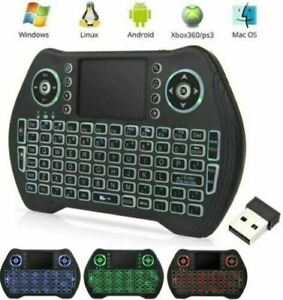 MT10 Backlight 2.4GHz Wireless Keyboard Touchpad Mouse Remote Control Android Tv