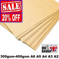 A4 A5 KRAFT BROWN CARD THICK PAPER CRAFT MAKING BOARD CARDBOARD TAGS 300gsm -400