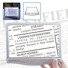 3X Page Magnifier with 12 Anti-Glare Dimmable LED Lights(More Evenly Lit Area)
