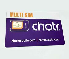 Chatr SIM Card Multi Format (Nano, Micro, Standard) for Prepaid or Postpaid