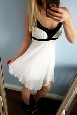 Jane Norman white summer holiday beach dress size 8