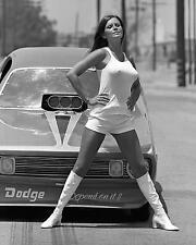 Vintage Pin Up Sexy Drag Racing Back Up Girl Barbara Roufs 8 x 10