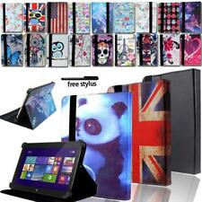 Leather Stand Folio Cover Case For Various Dell Venue 8 / 10 Tablet + Stylus