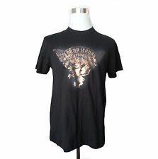 men graphic t-shirt size M by DKNY JEANS  black with gold paint