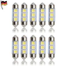 10 Stück 3 SMD 5050 LED Licht 12V Sofitte 36mm Xenon Nummerschild Indicator Neu