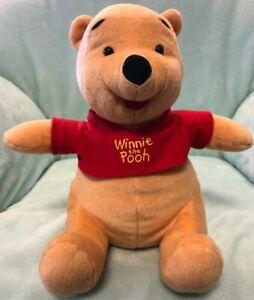 "Disney Fisher price Mattel Inc Winnie the Pooh Bear Plush 12"" 2003."