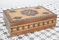 SCATOLA D'EPOCA IN LEGNO 18 x 11 - PORTAOGGETTI  - VINTAGE WOODEN BOX