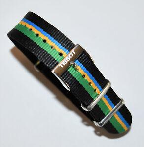 Original Tissot Quickster T095410A / T095417A Black Green Yellow Blue Band Strap