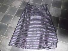 Per Una Purple/Black net striped flared skirt  12