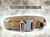 HEAVY DUTY Tactical Training Dog Collar with Handle/Alloy Buckle Medium Large