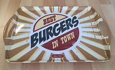 Azafate Bandeja Servir Best Burgers, Rectangular, Aprox. 2Cm de Alto