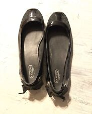 Coach Signature Flats With Bows On Back Black 7.5