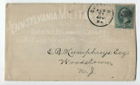 1870s Pennsylvania Military Academy allover ad cover Chester PA [4747]
