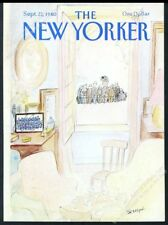 New Yorker magazine framing cover September 22 1980 Jean Jacques Sempe reunion