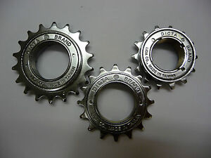 DICTA Chrome BMX Freewheel 18T / 16T / 14T Single Speed Cog Sprocket