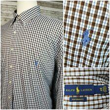 Ralph Lauren Performance Mens 1XB Big L/S Button Down Plaid Shirt Nylon/Spandex