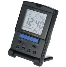 Casio Clock * PQ15-1HK Digital Travel Clock w/Thermometer Black COD PayPal