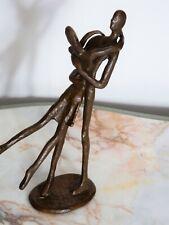 Original Contemporary Bronzed Metal Dancing Couple Art Sculpture