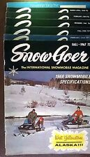 One Vintage SNOW GOER 69-74 snowmobile magazine Your Choice
