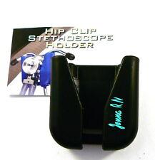 Stethoscope Hip Clip holder ID,belt clip hip holder,custom, yr.name turqoise