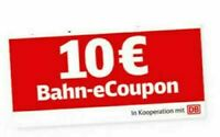 10€ eCoupon Deutsche Bahn Gutschein Lidl gültig bis 31.8.19 ohne Mindestwert /am