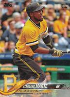 Starling Marte 2018 Topps Series 1 #60 Pittsburgh Pirates baseball card