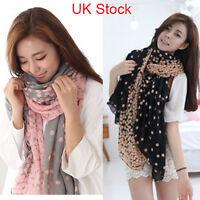 Hot New Fashion Women Long Yarn Silk Scarf Wrap Ladies Girls Shawl Large Scarves
