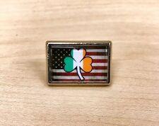 Irish American Flag Lapel Pin Tie Tac Hat Pin Pride