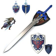 Legend of Zelda Ocarina of Time Master Sword and Shield Cosplay Set Unsharpened