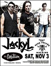 JACKYL / DEAD FRIEND WALKING 2012 WICHITA CONCERT TOUR POSTER - Hard Rock Music