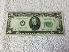 1950 Series C $20.00 US Currency w/free shipping