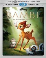 Disney Bambi Blu-ray DVD Digital HD Factory Sealed w slipcover