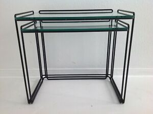 """TWO """"ISOCELES"""" NESTING TABLES BY MAX SAUZE 1960 VINTAGE MID CENTURY French"""