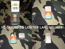 VIETNAM WAR CAPTURED LIGHTER TAKEN IN 1968 AT  LANG VEI BY SPECIAL FORCES