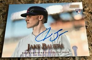 2019 TOPPS STADIUM RC JAKE BAUERS ON CARD AUTH AUTO AUTOGRAPH ROOKIE CLEVELAND