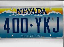 """NEVADA passenger license plate """"400-YKJ"""""""