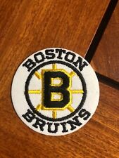 "NHL BOSTON BRUINS IRON ON ROUND PATCH 2 7/8"""