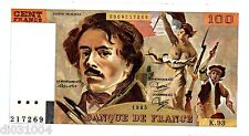 FRANCE Billet 100 FRANCS 1985 DELACROIX  P154 K.93 SPL+  / AU