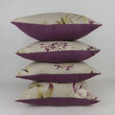 Designer 4 Swaffer Whitworth Purple Floral Fabric Pillow Cushion Covers
