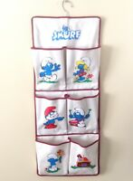 Smurf Shoe Toy Oraganizer Six Pockets Beige Smurfs 11.5X29 Inches