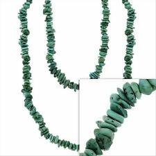 Lab Created Green Turquoise Chips Layer Necklace, 36""