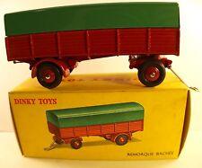 Dinky Toys F 70 remorque bâchée  jamais joué en boîte