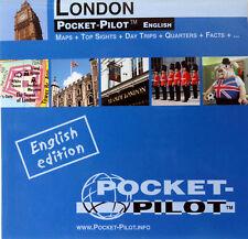 NEW 2008~MAP OF LONDON~PocketPilot,w/TubeMap,Waterproof +Top 20 Sights & History