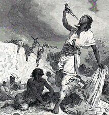 Antique print Suicide Tewodros Theodore II of Ethiopia Abyssinia 1868 Expedition