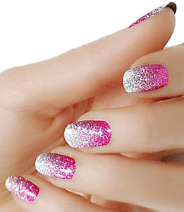 Pink Ombre color wraps real nail polish strips M-85 street art Free shipping