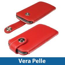 Rosso Vera Pelle Pouch per Samsung Galaxy Nexus i9250 Case Cover Protezione