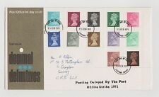 UNITED KINGDOM POST OFFICE FIRST DAY COVER LOW VALUE DECIMAL DEFINITIVES  1971