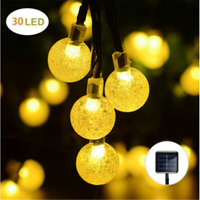 Waterproof Outdoor String Lights 30LED Solar Bulb Party Yard Garden Wedding USA