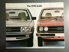 1978 Audi Full Line Showroom Advertising Sales Folder Brochure RARE!! Awesome