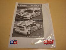 BRAND NEW VINTAGE NOS 2003 TAMIYA FORD FOCUS RS TT-01 MANUAL FOR 58308 1050254